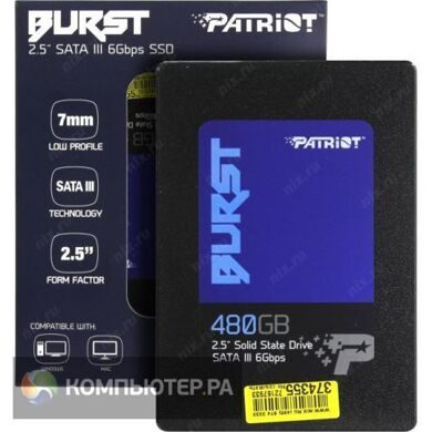 Накопитель SSD Patriot SATA III 480Gb PBU480GS25SSDR Burst 2.5""