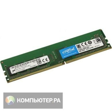 Память DDR4 4Gb 2400MHz Crucial CT4G4DFS824A RTL PC4-19200 CL17 DIMM 288-pin 1.2В kit single rank